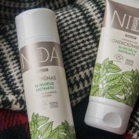 Nida šampūnas ir kondicionierius su dilgėlių ekstraktu riebiems plaukams