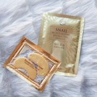 Kaukių mėnuo: 2 savaitė. Mengxilan Snail Moisturizing ir Crystal Collagen Gold Powder Eye Mask