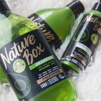 Nature Box Avocado Oil šampūnas, kondicionierius ir plaukų kremas